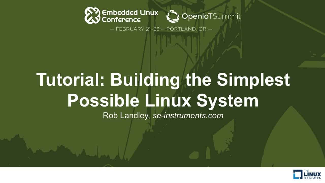 Building the Simplest Possible Linux System